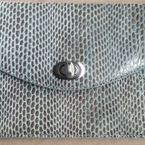 """Sorial """"coco""""  textured leather clutch"""